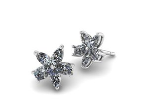 3dm marquise pear earrings