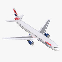 3d boeing 767-300 british airways model