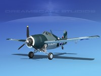 3d grumman f4f-3 fighter aircraft model