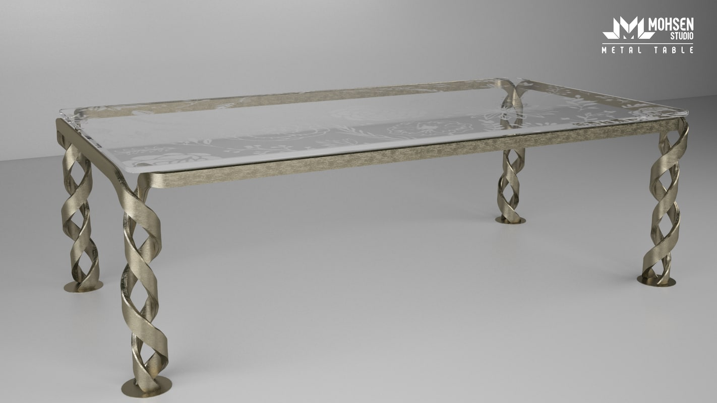 classic metal table 3d model