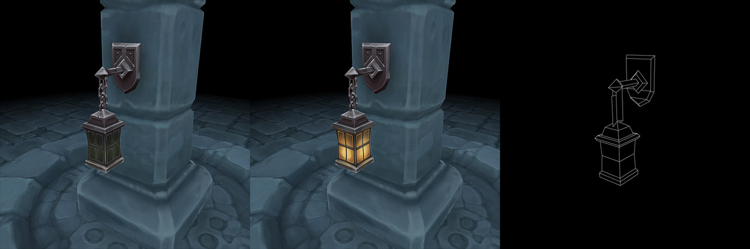 3d ma wall lantern set