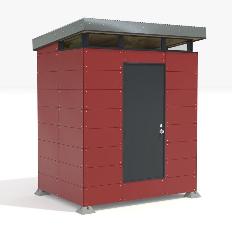 3d modern storage shed model