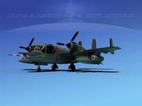 3d model of ov-1d mohawk grumman