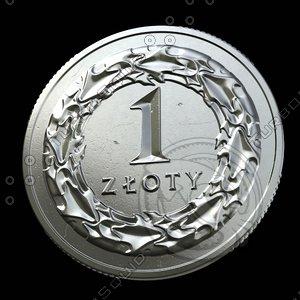 3d model 1 zloty
