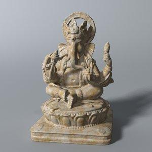 3d model ganesha statue
