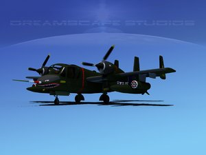 ov-1d mohawk grumman recon 3d model