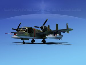 3d ov-1d mohawk grumman recon model