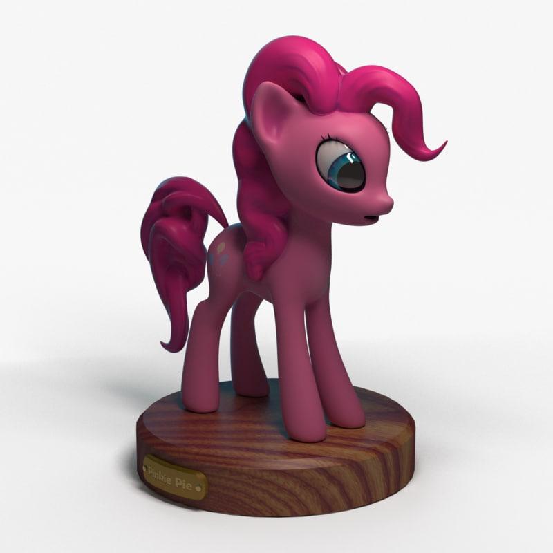 3d little pony pinkie pie