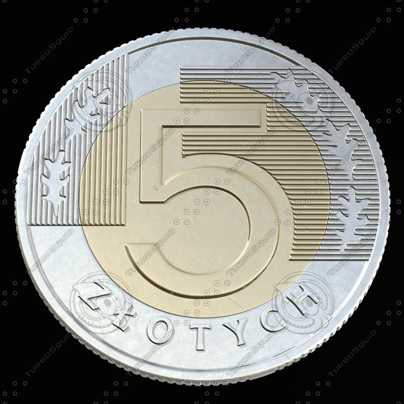 3d model 5 zloty