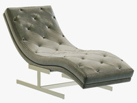3d rh modern leather chaise