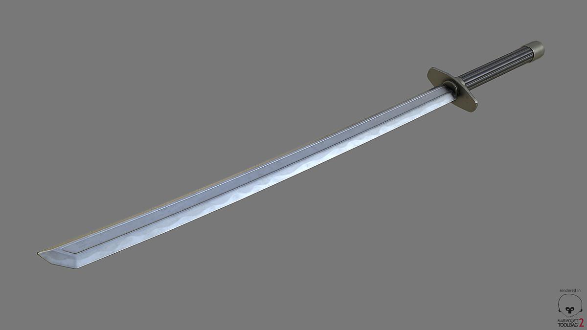 katana sword pbr obj free