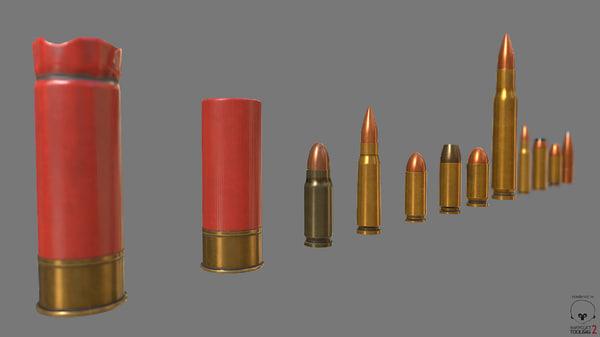 munition shell pbr obj free