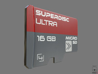 obj micro sd card pbr