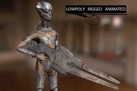 Alien Soldier (Low Poly)