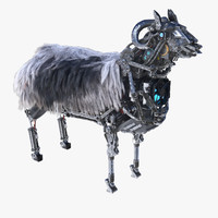 3d model robot sheep
