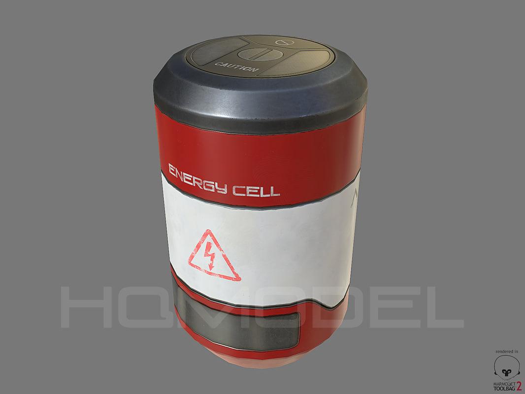 energy cell pbr sci-fi 3d model