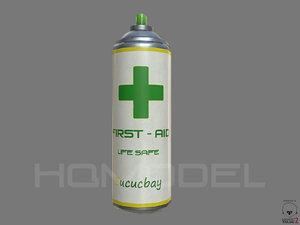 3d model health aid spray pbr