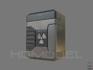 3d model energy fusion cell pbr