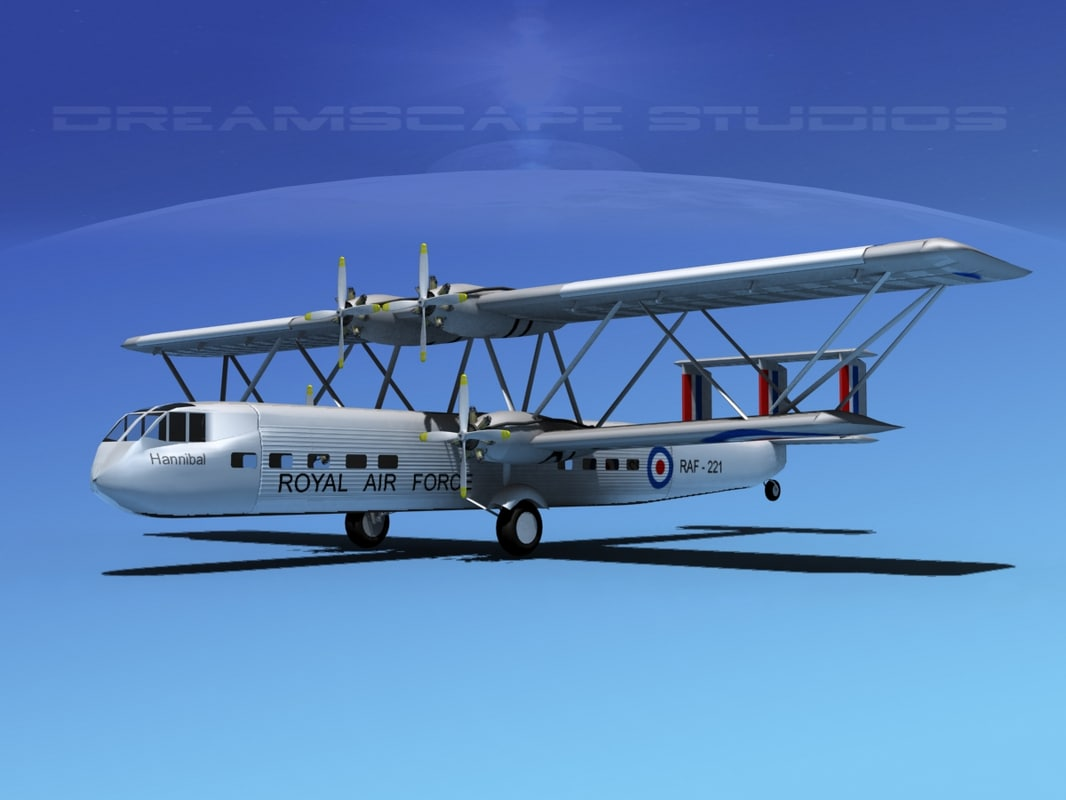 hp-42 handley page hannibal 3d model