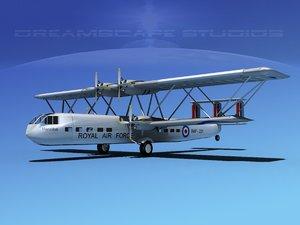 hp-42 handley page hannibal 3d model