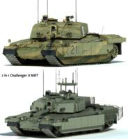challenger 2 mbt tank 3d max