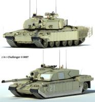 3d challenger 2 mbt tank model