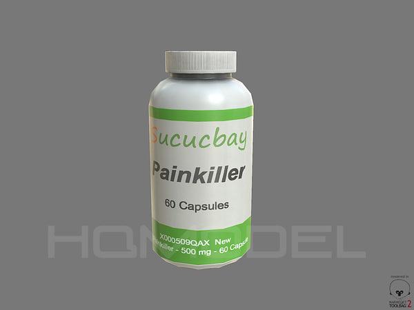 3d pain pills pbr model
