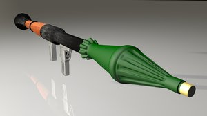 3d model rpg rocket