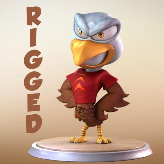 eagle cartoon characters 3d ma