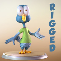 Maya Cartoon Pigeon Character