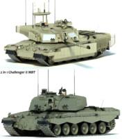 challenger 2 mbt tank 3d model
