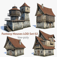 Fantasy Houses LOD Set 02