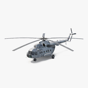 3d mi-8 hip united nations model