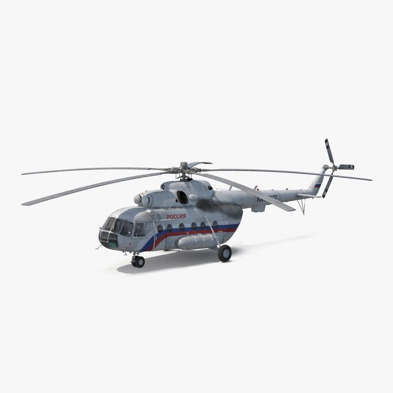 mil mi-8 hip russian 3d model