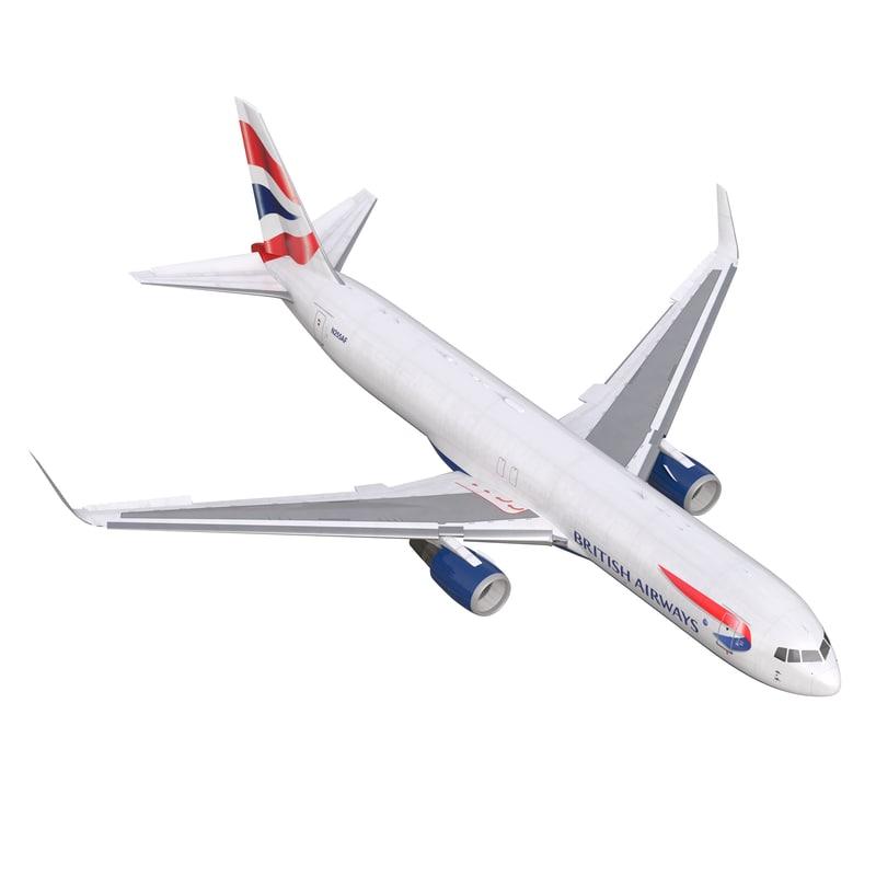 boeing 767-300f british airways 3d max