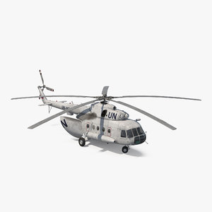 mi-8 hip united nations 3d max