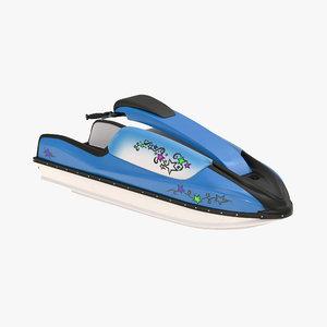 sport water scooter generic 3d model