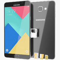 3d realistic samsung galaxy a9 model