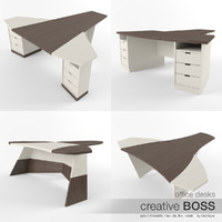 boss desks 3d model