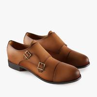 3d model monk shoes