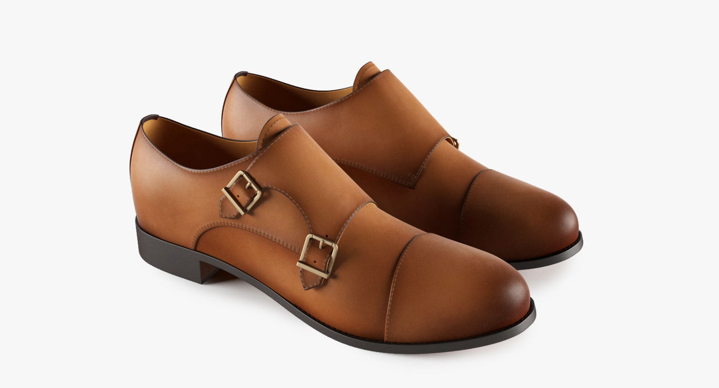3d model monk shoes
