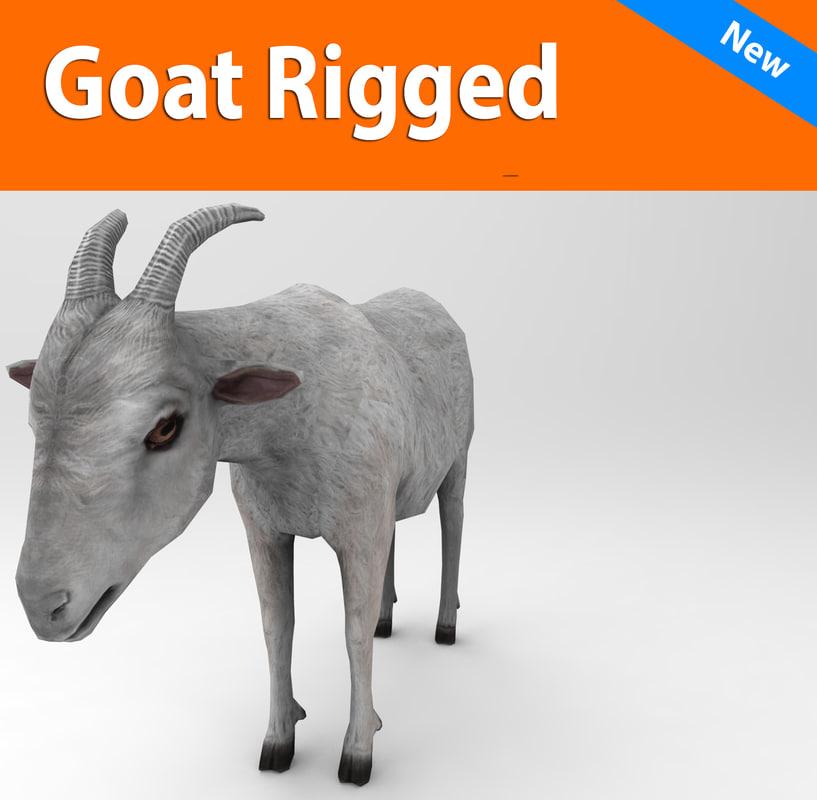 obj goat rigged