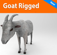 goat rigged 3d obj