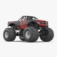 Monster Truck Generic 2 Rigged