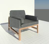 Bassamfellows Wood frame Lounge chair