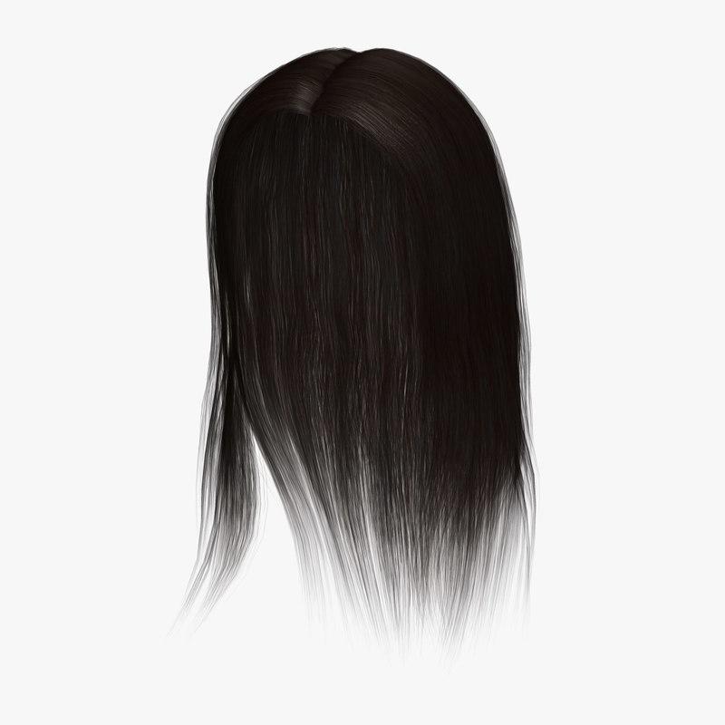 lisa hair 3d 3ds