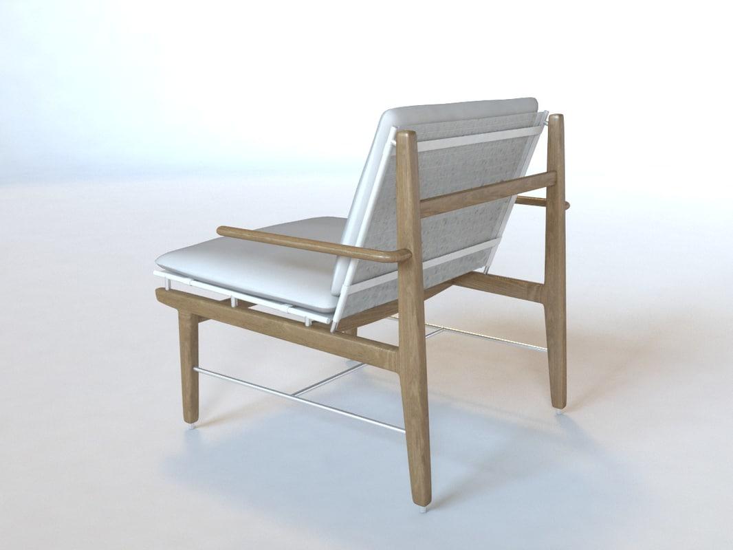 lounge chair finn 3d model