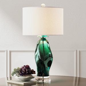 uttermost table lamp 3d model