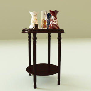 table decorative vase 3d model
