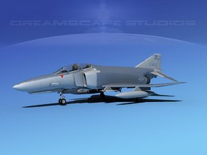 3d model mcdonnell douglas f-4 phantom